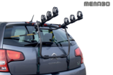 Achterklep fietsendrager voor 3 fietsen in hangende positie_