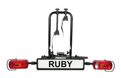 Inklapbare fietsendrager voor 2 fietsen Pro-user Ruby