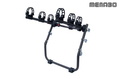 Achterklep fietsendrager voor 3 fietsen in hangende positie